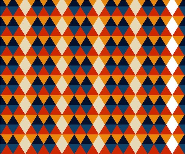 Geometrische vormen groovy patroon Gratis Vector