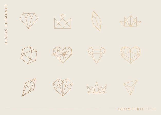 Geometrische vormen instellen Gratis Vector