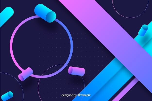 Geometrische vormen kleurrijke gradiënt als achtergrond Gratis Vector
