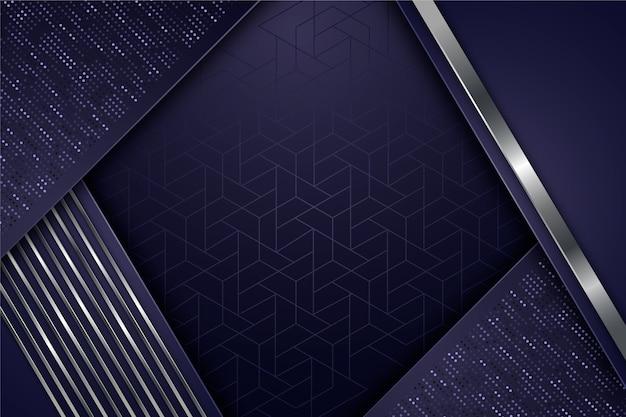 Geometrische vormen screensaver realistisch ontwerp Gratis Vector