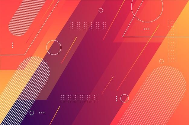 Geometrische vormenachtergrond in gradiënt Gratis Vector