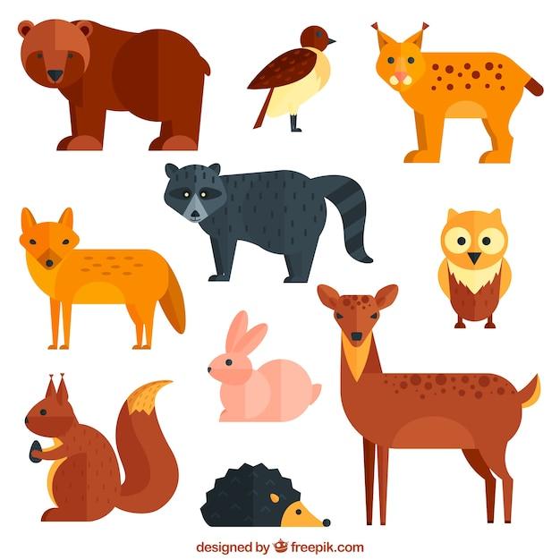 Geometrische wilde dieren Gratis Vector