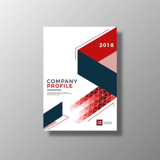 Geometrische zakelijke brochure Gratis Vector