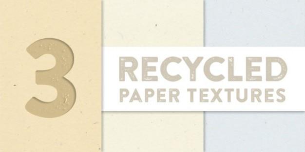 Gerecycled papier texturen collectie Gratis Vector