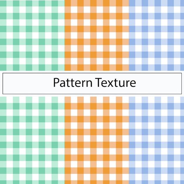 Geruite collectie patroon Premium Vector