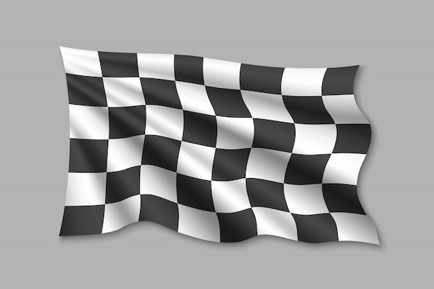 Geruite vlag illustratie Premium Vector