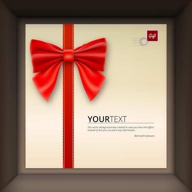 Geschenkdoos met gefeliciteerd Premium Vector