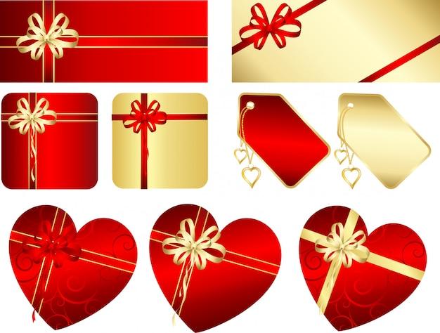 Geschenken en etiketten Gratis Vector