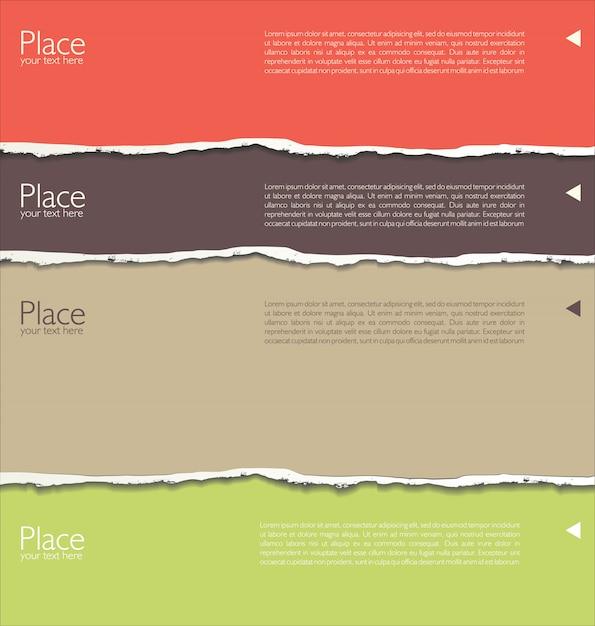 Gescheurd papier achtergrond met ruimte voor tekst Premium Vector