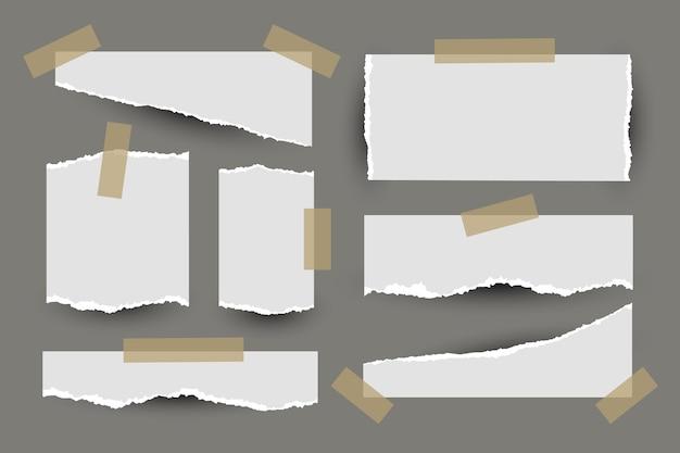Gescheurd papier met tape Gratis Vector