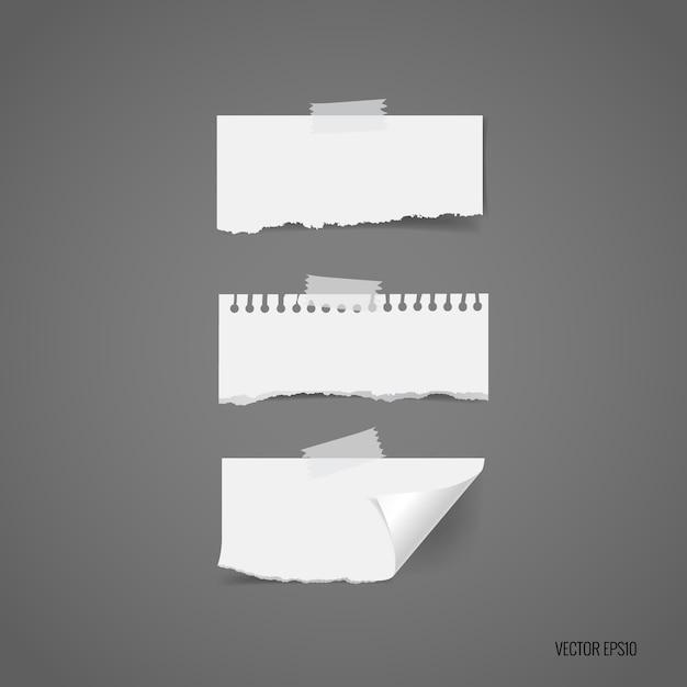 Gescheurde papierinzameling Gratis Vector