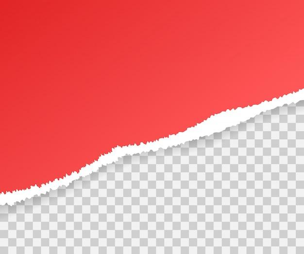 Gescheurde papierranden, naadloos horizontaal. Premium Vector
