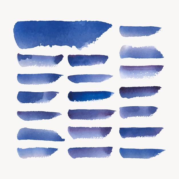 Geschilderde waterverfachtergrond in blauw Gratis Vector