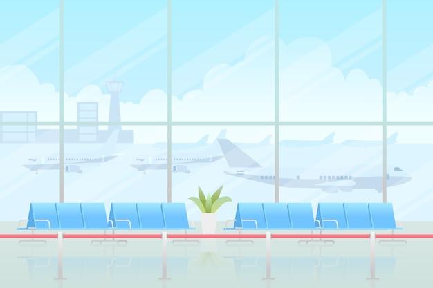 Gesloten luchthavenconcept Gratis Vector