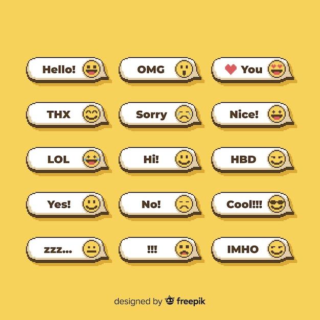Gesprek met emoji's Gratis Vector