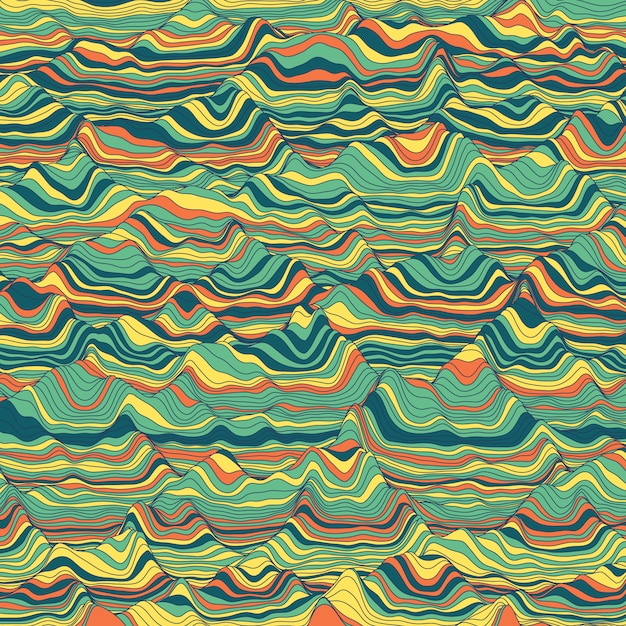 Gestreepte vintage abstracte achtergrond Gratis Vector