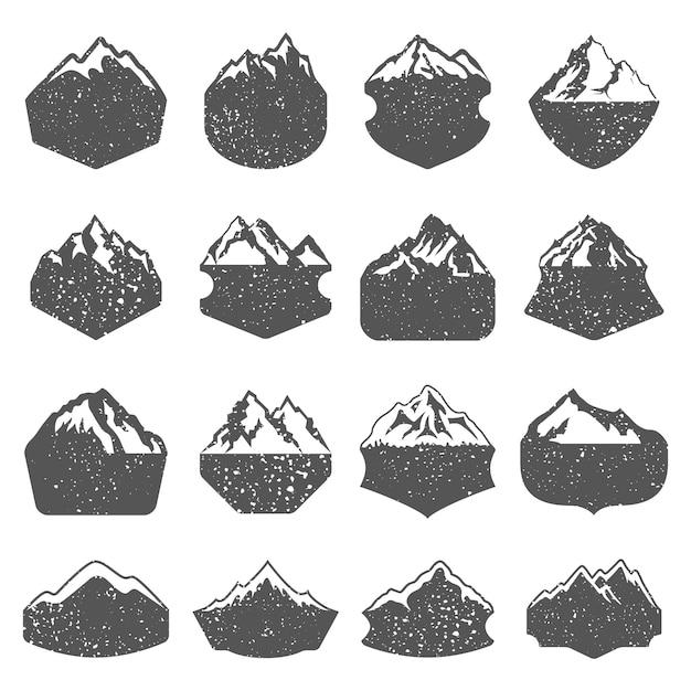 Gestructureerde bergvormen Premium Vector