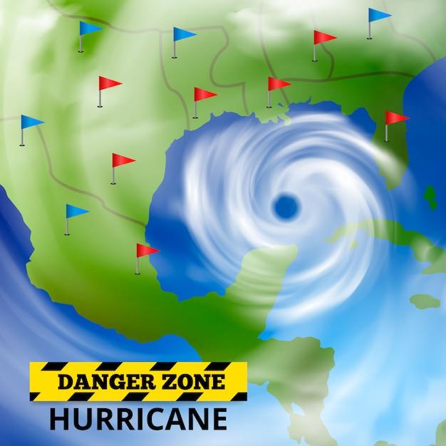 Gevaarlijke weersvoorspelling Gratis Vector