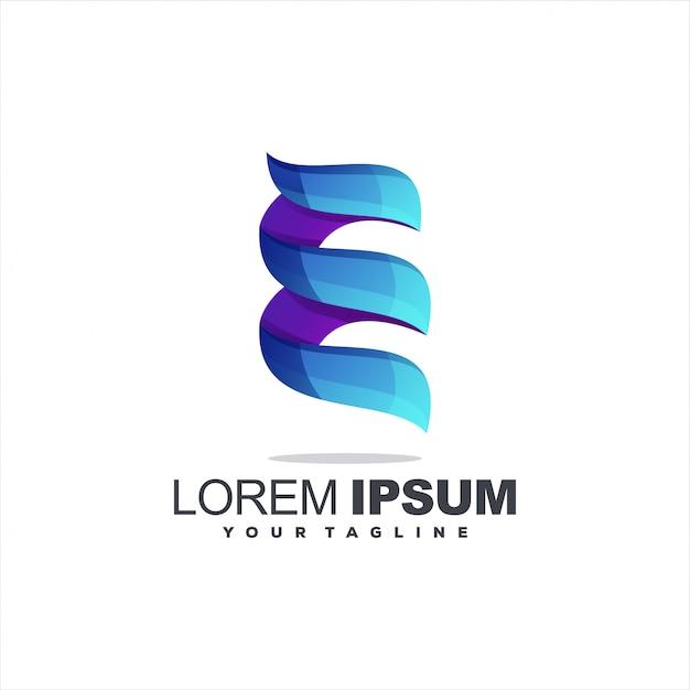 Geweldig letter e-logo Premium Vector