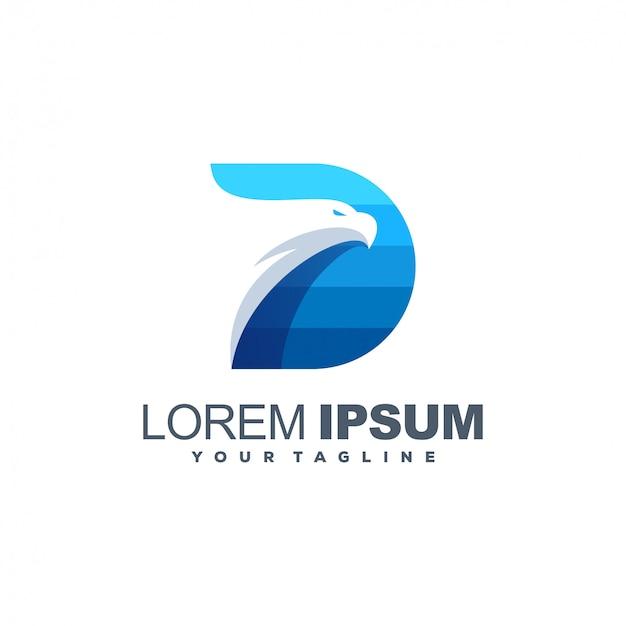 Geweldig logo met adelaarskop Premium Vector