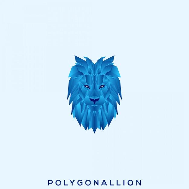 Geweldig veelhoekig lion premium-logo Premium Vector