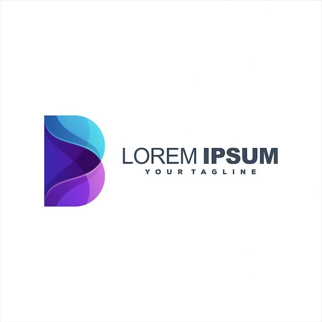 Geweldig verloop abstract logo sjabloon Premium Vector