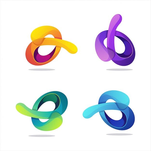 Geweldig verloop abstract logo Premium Vector