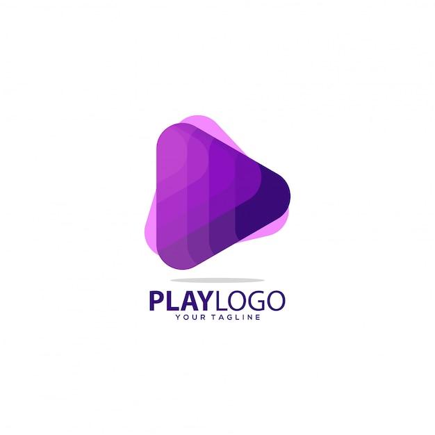 Geweldig verloop spelen logo Premium Vector