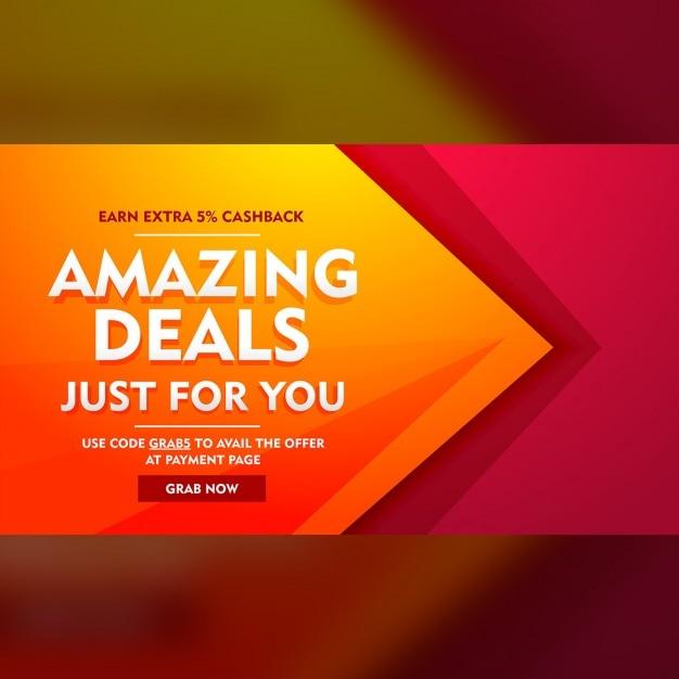 Geweldige aanbiedingen verkoop aanbieding banner Gratis Vector