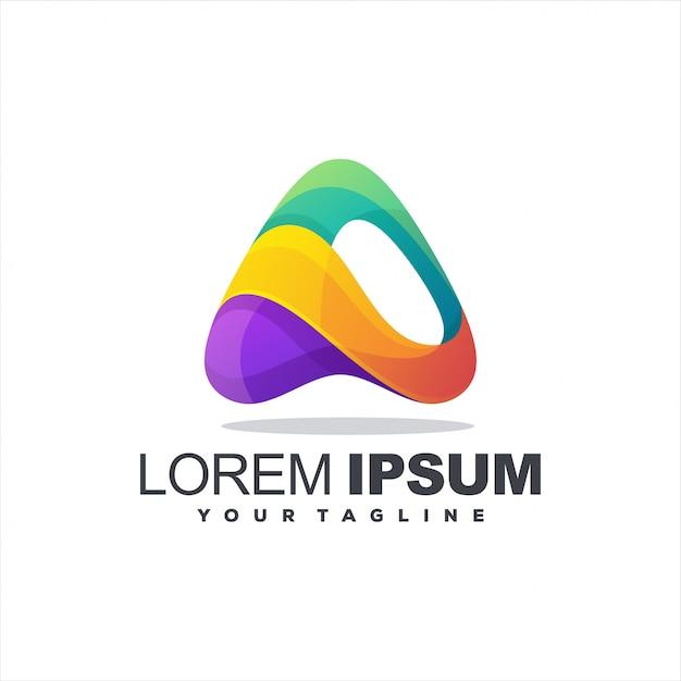 Geweldige brief een logo Premium Vector