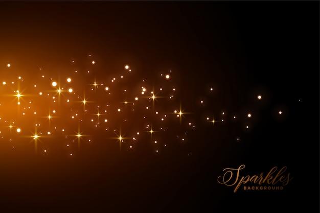 Geweldige fonkelingenachtergrond met gouden lichteffect Gratis Vector