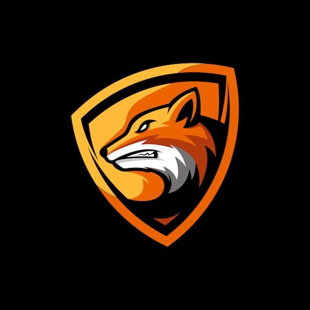 Geweldige fox mascot Premium Vector