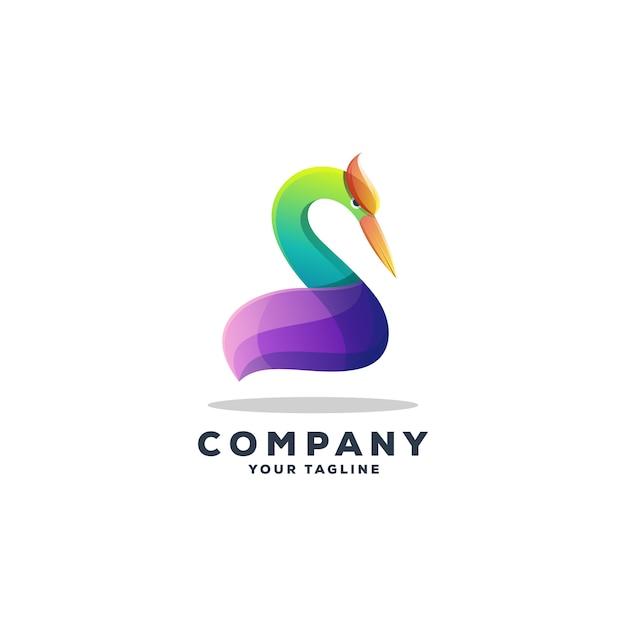 Geweldige gans logo ontwerp vector Premium Vector