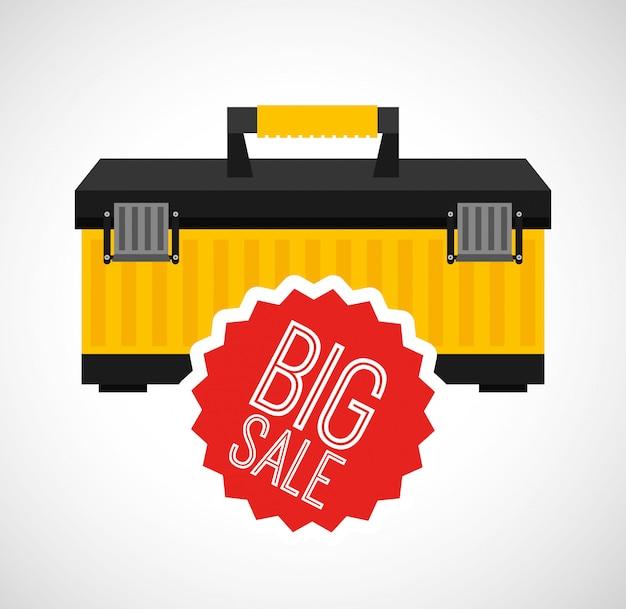 Geweldige gereedschappen te koop Premium Vector