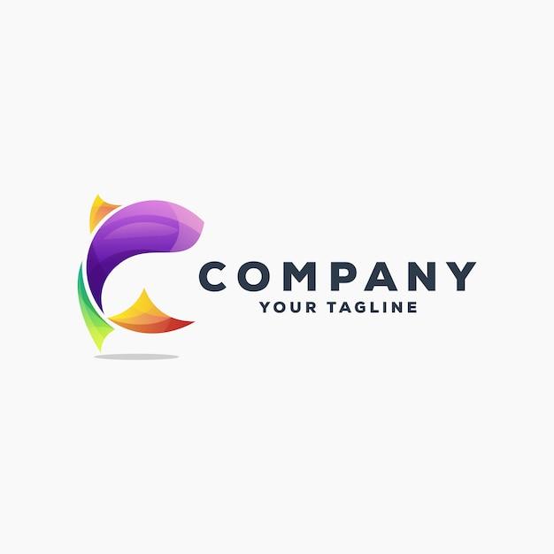 Geweldige vis logo ontwerp vector Premium Vector