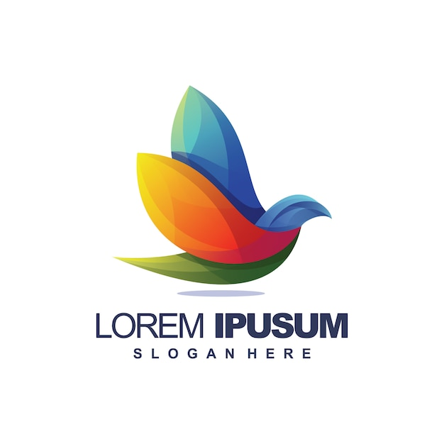 Geweldige vogel logo Premium Vector