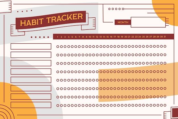 Gewoonte tracker-sjabloon in vintage stijl Gratis Vector