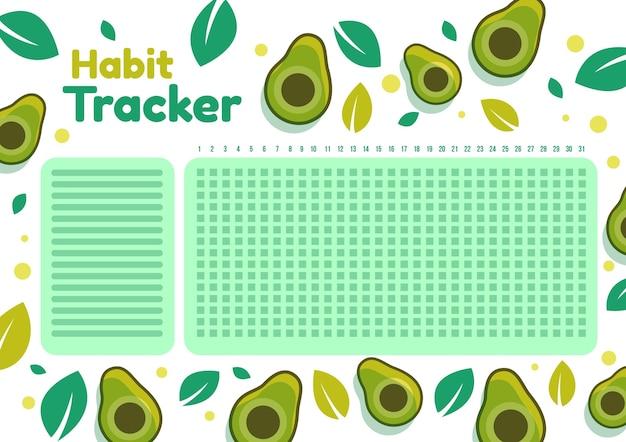Gewoonte tracker sjabloon Gratis Vector