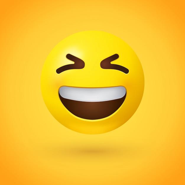 Gezicht emoji glimlachen Premium Vector