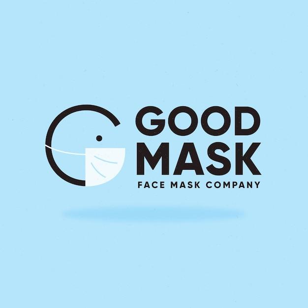 Gezichtsmasker logo sjabloon Gratis Vector