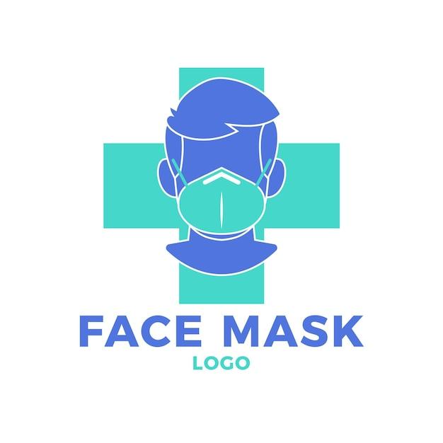 Gezichtsmasker logo sjabloon Premium Vector