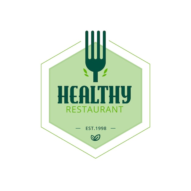 Gezond restaurant logo sjabloon Gratis Vector