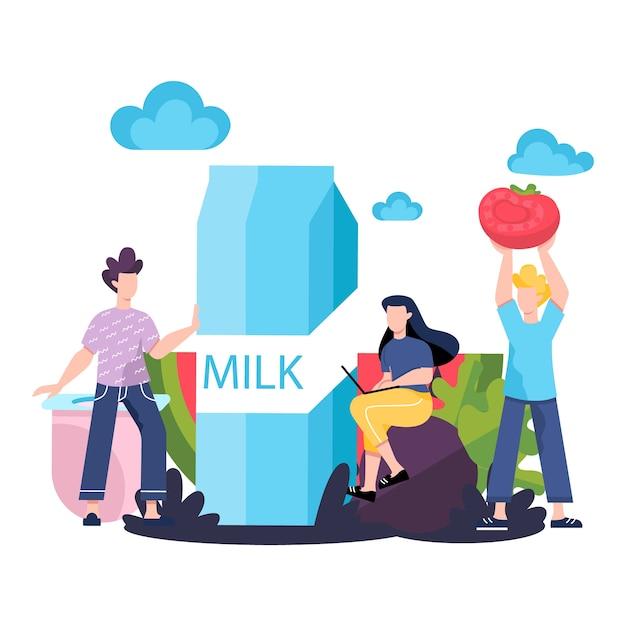 Gezond voedselconcept. idee van biologisch menu en natuurlijke voeding. koken met verse ingrediënten. lichaam en gezondheidszorg. gezond leven concept. Premium Vector