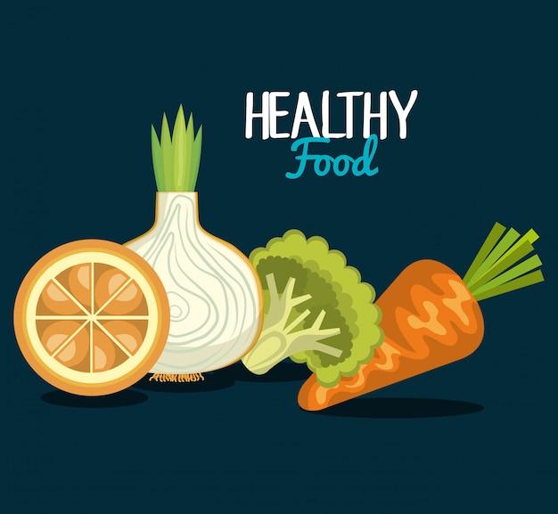 Gezond voedselontwerp Gratis Vector