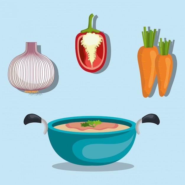 Gezonde voeding groenten Gratis Vector
