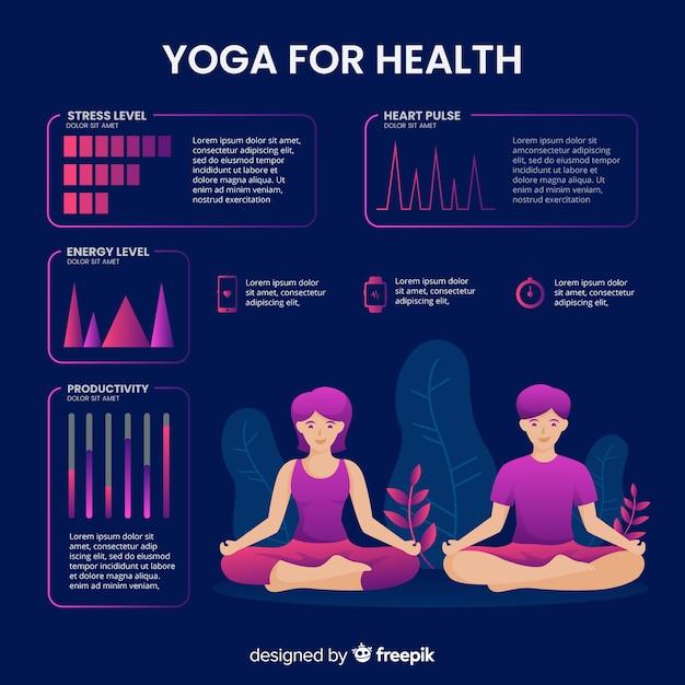 Gezondheid infographic sjabloon vlakke stijl Gratis Vector