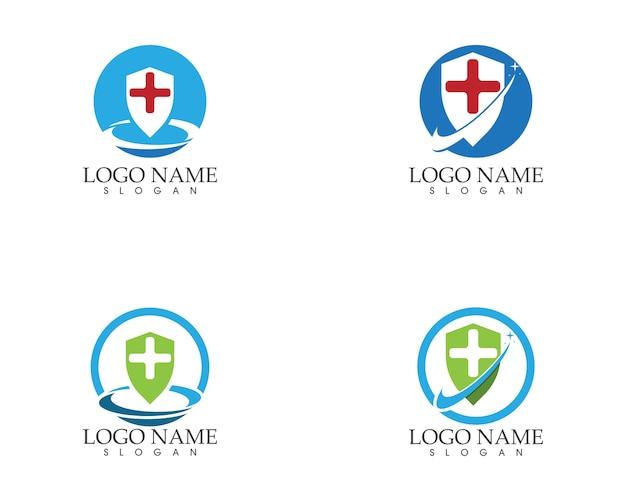 Gezondheid medische logo sjabloon Premium Vector