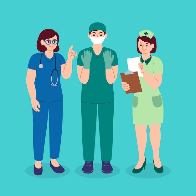 Gezondheid professionele collectie Gratis Vector