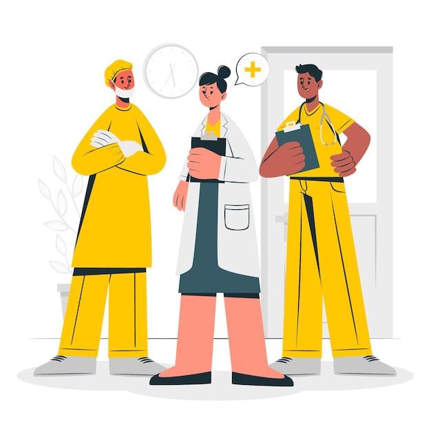 Gezondheid professionele team concept illustratie Gratis Vector