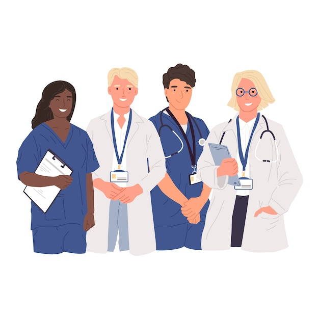 Gezondheid professionele team illustratie Gratis Vector